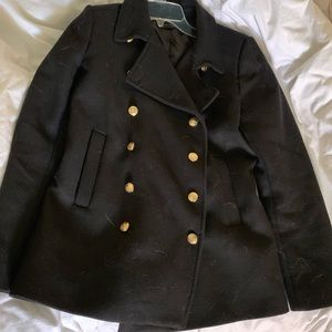 Black Zara Peacoat